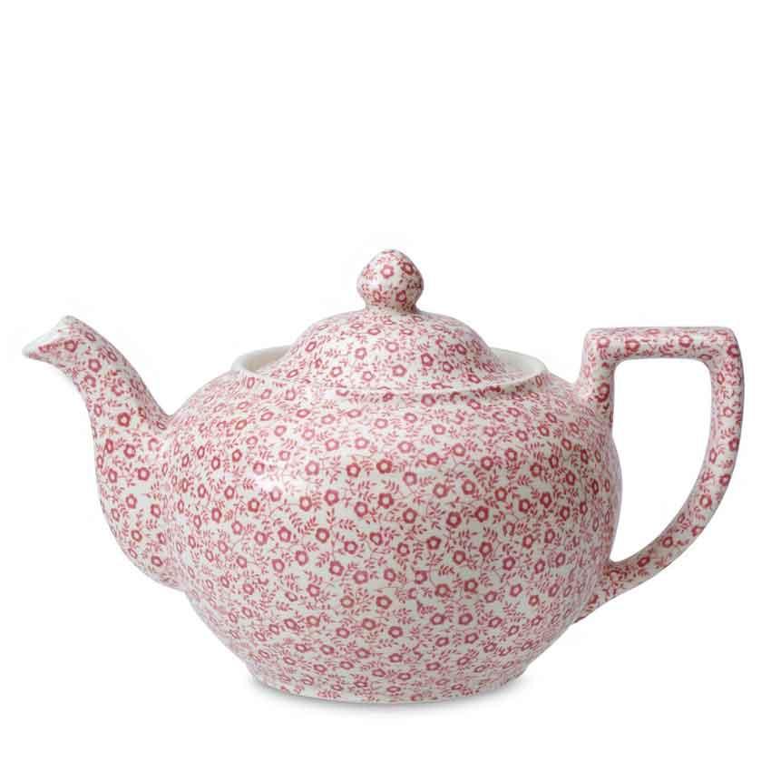 バーレイ 英国食器 Burleigh ピンクフェリシティティーポットL 1.1L Burleigh/Pink Felicity/Large Teapot/花柄/おしゃれ/かわいい/おすすめ/カフェ/ポット/老舗陶器