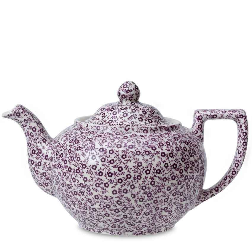 バーレイ 英国食器 Burleigh プラムフェリシティティーポットL 1.1L Burleigh/Plum Felicity/Large Teapot/花柄/おしゃれ/かわいい/おすすめ/カフェ/ポット/老舗陶器