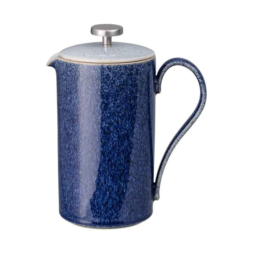 イギリス食器 Denby デンビーブリューコレクション  スタジオブルー コーヒープレス Denby Studio Blue/ノスタルジック/スタイリッシュ/英国製/Brew/珈琲愛好家/French Press