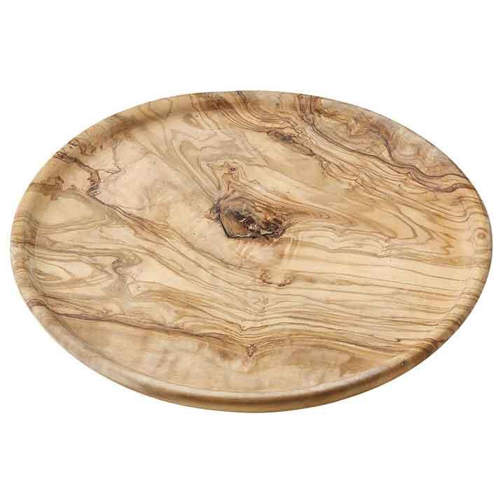 JUST SLATE ジャストスレート チュニジアオリーブウッド プレート丸皿 25cm オリーブ/プレート/オリーブウッド/木製食器/結婚祝い/記念日