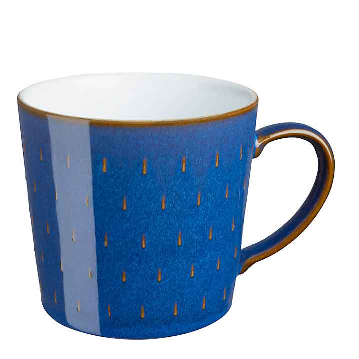 ノスタルジックなストーンウェアDENBY 上質 エレガントな真のモダンクラシックの美しいマグカップ イギリス食器 Denby デンビー インペリアルブルー カスケードマグ お洒落 350ml マグカップ ギフト プレゼント blue かわいい imperial 青 英国製 おしゃれ