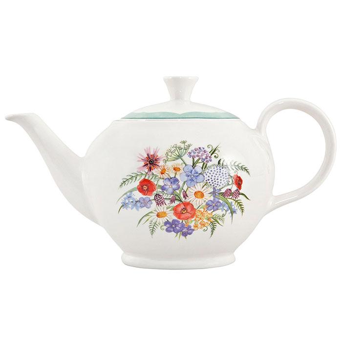 イギリス食器 ハイグローブ コロネーションメドゥ ティーポット L 800ml 花柄/おしゃれ/陶器/おすすめ/かわいい