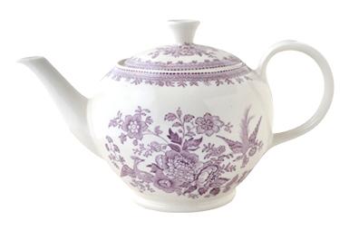 イギリス食器 バーレイ社 プラムアジアティックフェザンツ ティーポット S 400ml 花柄/おしゃれ/陶器/おすすめ/かわいい