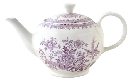 イギリス食器 バーレイ社 プラムアジアティックフェザンツ ティーポット L 800ml 花柄/おしゃれ/陶器/おすすめ/かわいい