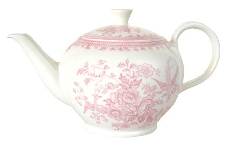 バーレイ 英国食器 Burleigh ピンクアジアティックフェザンツ ティーポット L 800ml 花柄/おしゃれ/陶器/おすすめ/かわいい