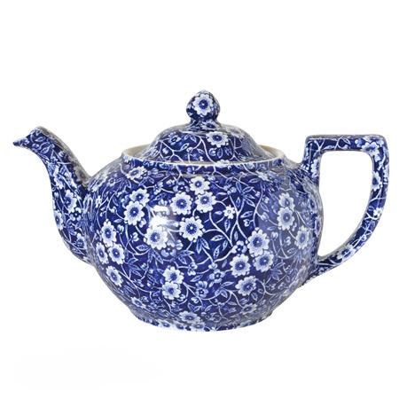 英国食器バーレイ社 バーレイ ブルーキャリコ ティーポットL 1.0L イギリス/おしゃれ/紅茶/陶器/calico