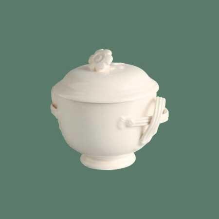 イギリス製ハートリーグリーン・リーズウェア ピアスドウェア シュガーポット 紅茶/コーヒー/砂糖
