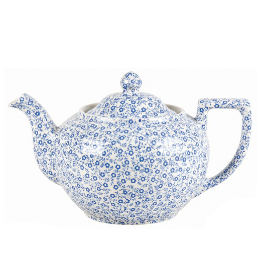 バーレイ 英国食器 Burleigh ブルーフェリシティ ティーポットL 1.0L 花柄/おしゃれ/陶器/おすすめ/かわいい