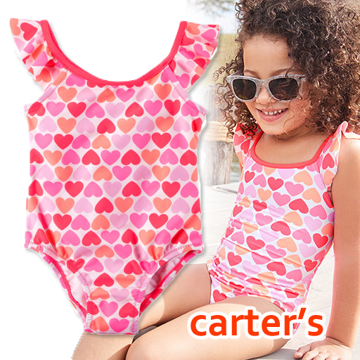 d311f13260 Fluorescence pink for the child for the Carter's Carter's swimsuit dress  heart baby, 60 70 ...