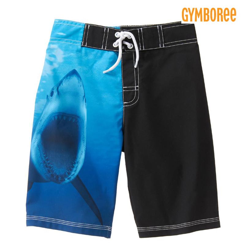 d9d45aed03cbc osyamama: 17 new work Jinbo Lee /GYMBOREE swimsuit board shorts UPF50+ UV  cut high kids & youths, shark shark swim trunk blue black boy use for  the ...