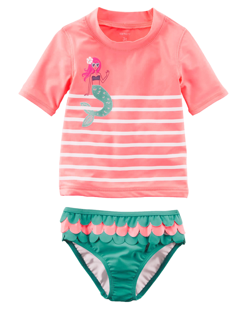 395b703092 osyamama: 12m18m24m2T3T4T5T678 for the child Little Mermaid baby kids child  of 18 new work Carter's Carter's swimsuit rush guard setup short sleeves  woman ...
