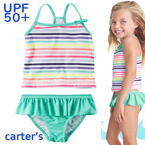 df90c8effe osyamama: 2T3T4T5T67 for the horizontal stripe kids child with the child  tank top bikini skirt of 18 new work Carter's Carter's swimsuit woman    Rakuten ...