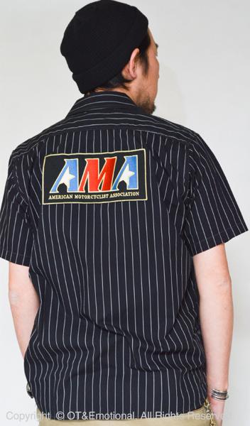 TOYS McCOY(トイズマッコイ)ストライプド半袖ワークシャツAMA LONG RIDER 10000 MILES【送料無料・代引き手数料無料】