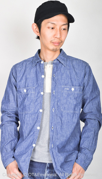 WAREHOUSE ( warehouse ) l/s workshirt chambray-3076S