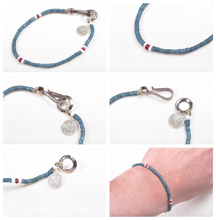 北方工程 (北作品) 珠手链靛蓝染色不-603