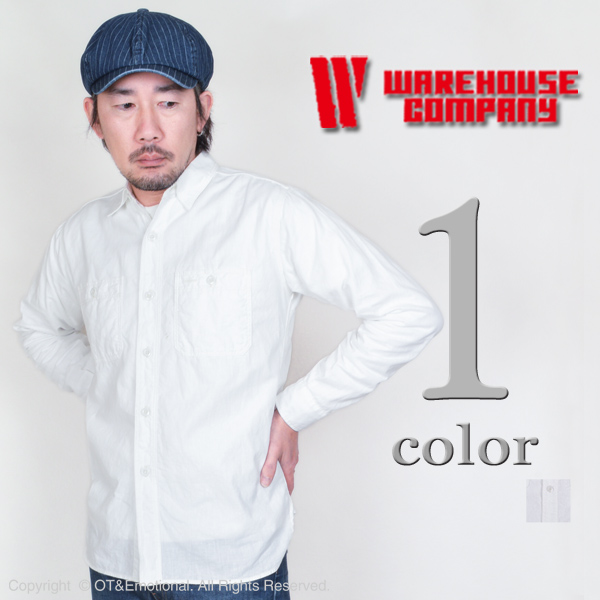 服装房屋(WAREHOUSE)howaitoshambureshatsu 3076W