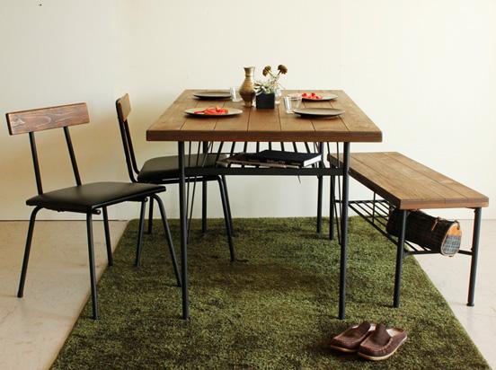 【送料無料】KELT ケルト 140ダイニングテーブル 机 木材 古木 お洒落