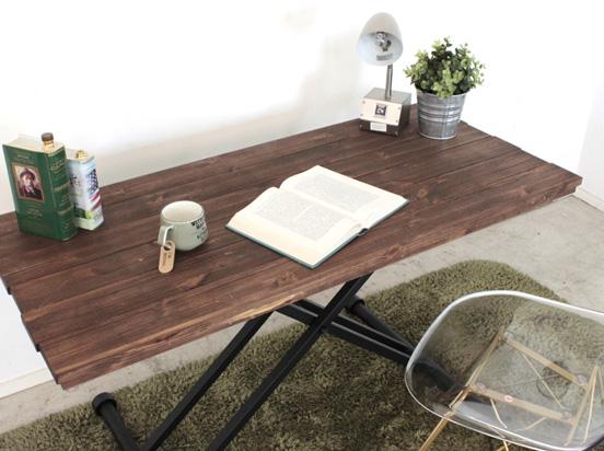 【送料無料】Kelt ケルト リフティングテーブル 幅120cm センターテーブル 昇降テーブル リフト 机 テーブル