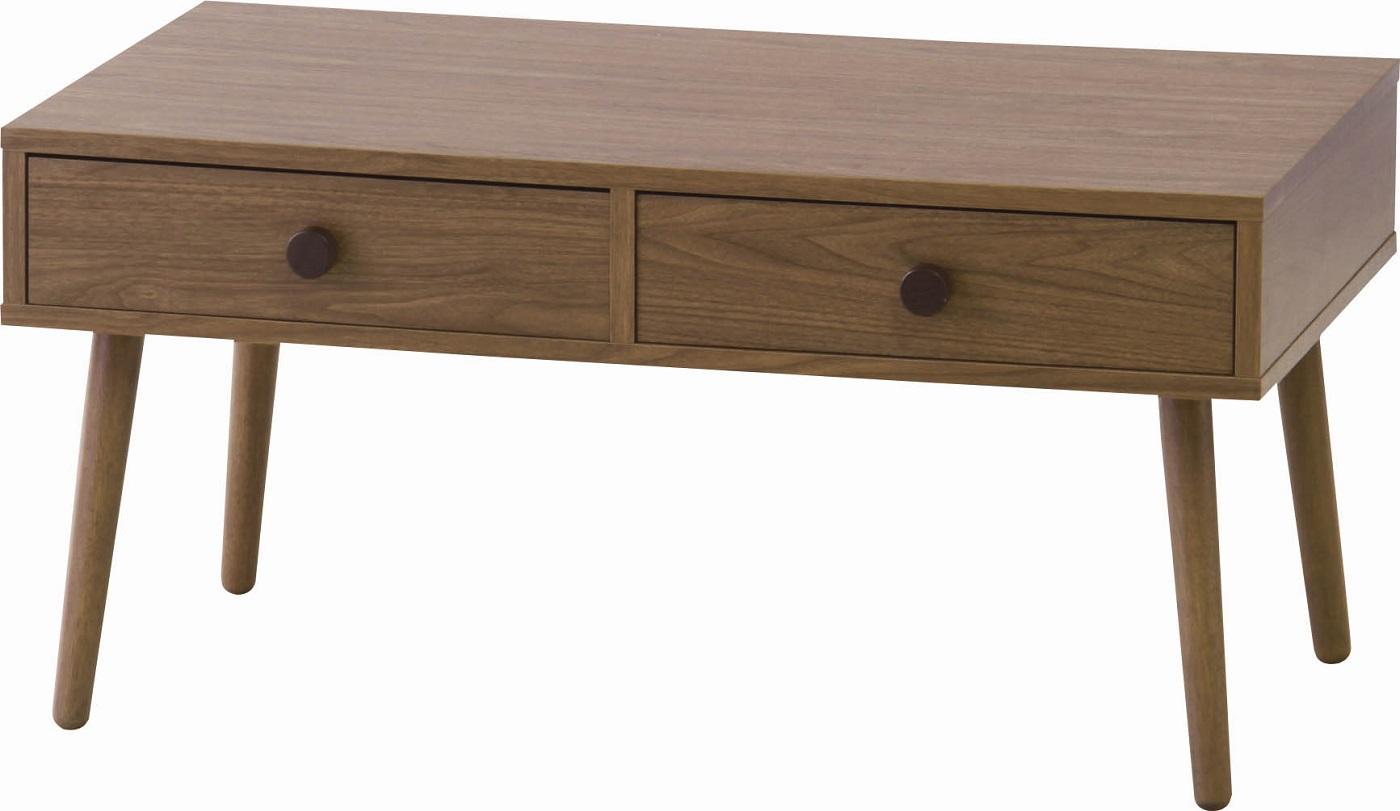 【送料無料】センターテーブル 机 北欧 天然木 ウォールナット