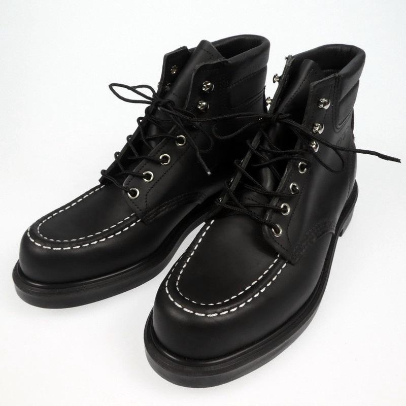 【中古】RED WING レッドウィング SUPER SOLE MOC-TOE スーパーソール モックトゥ ブーツ E8133 サイズ:27.5cm カラー:ブラック【f127】