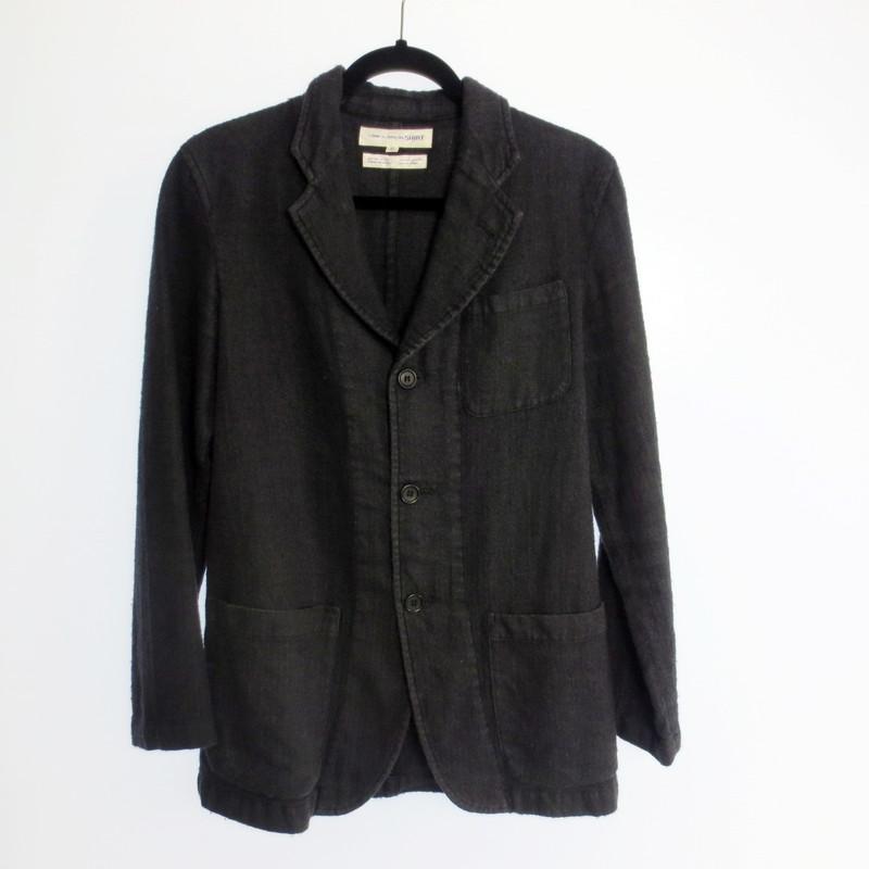 【期間限定】ポイント20倍【中古】COMME des GARCONS Shirt コムデギャルソンシャツ 3Bウールジャケット サイズ:S カラー:ブラック / ドメス【f108】