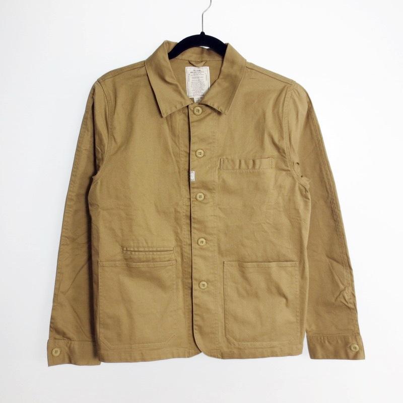 【期間限定】ポイント20倍【中古】CRIMIE クライミー STRETCH CHINO JACKET ミリタリーシャツジャケット サイズ:XS カラー:ベージュ【f096】