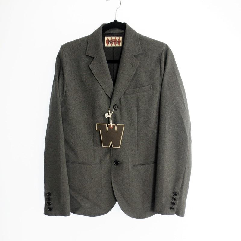 【中古】WEIRDO ウィアード TIN CAR CLUB-JACKET トロピカルテーラードジャケット WRD-17-SS-03 薄手ジャケット サイズ:M カラー:グレー【f096】