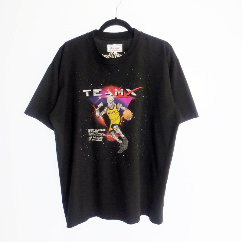 【期間限定】ポイント20倍【中古】Just Don ジャスト・ドン RUNNING ROBOT S/S CREW TEE Tシャツ 国内正規品 サイズ:L カラー:ブラック【f108】