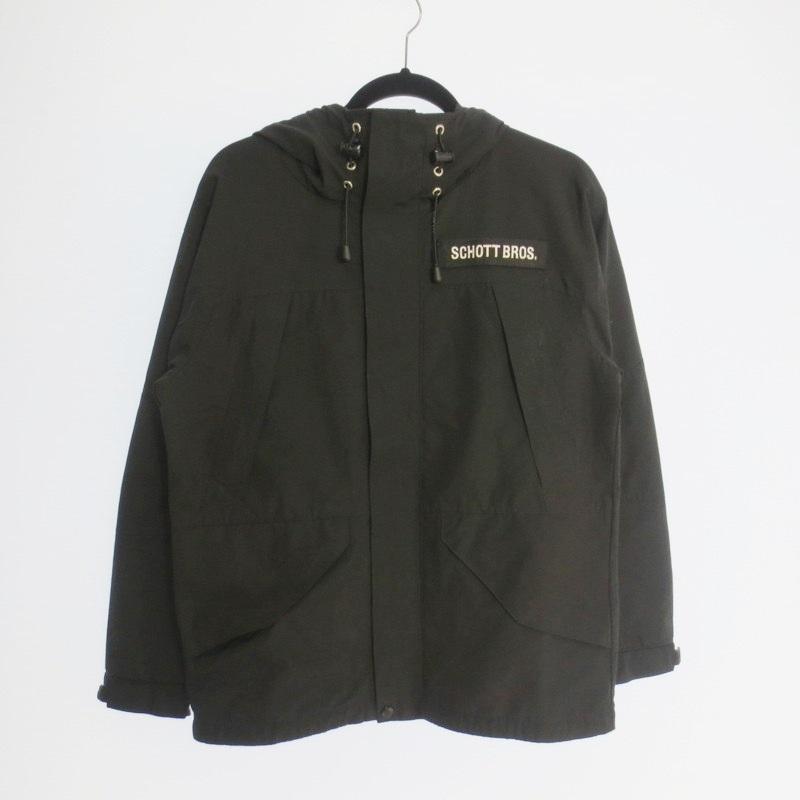 【期間限定】ポイント20倍【中古】Schott ショット 2TONE FIELD PARKA フィールドジャケット  サイズ:S カラー:ブラック / アメカジ【f093】