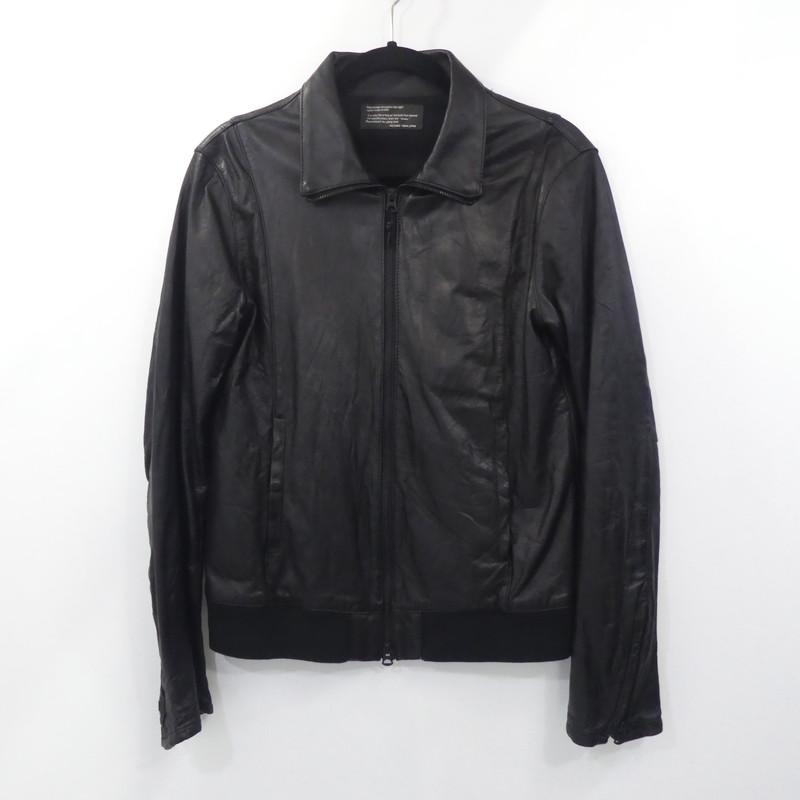 【中古】shama シャマ レザーブルゾン 41247nu  サイズ:40 カラー:ブラック【f096】