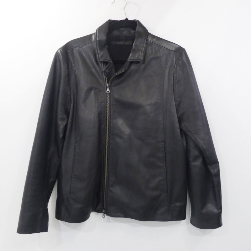 【中古】shama シャマ セミダブルカウレザージャケット AQSH181907 サイズ:40 カラー:ブラック【f096】