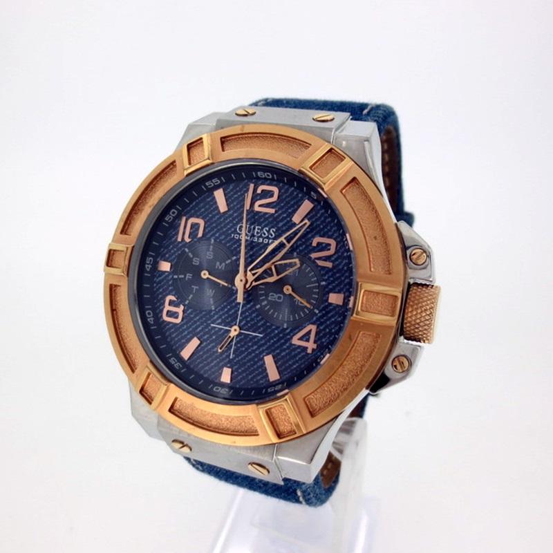 中古 GUESS ゲス 代引き不可 RIGOR W0040G6 腕時計 人気ブランド多数対象 クォーツ f131 gwpu