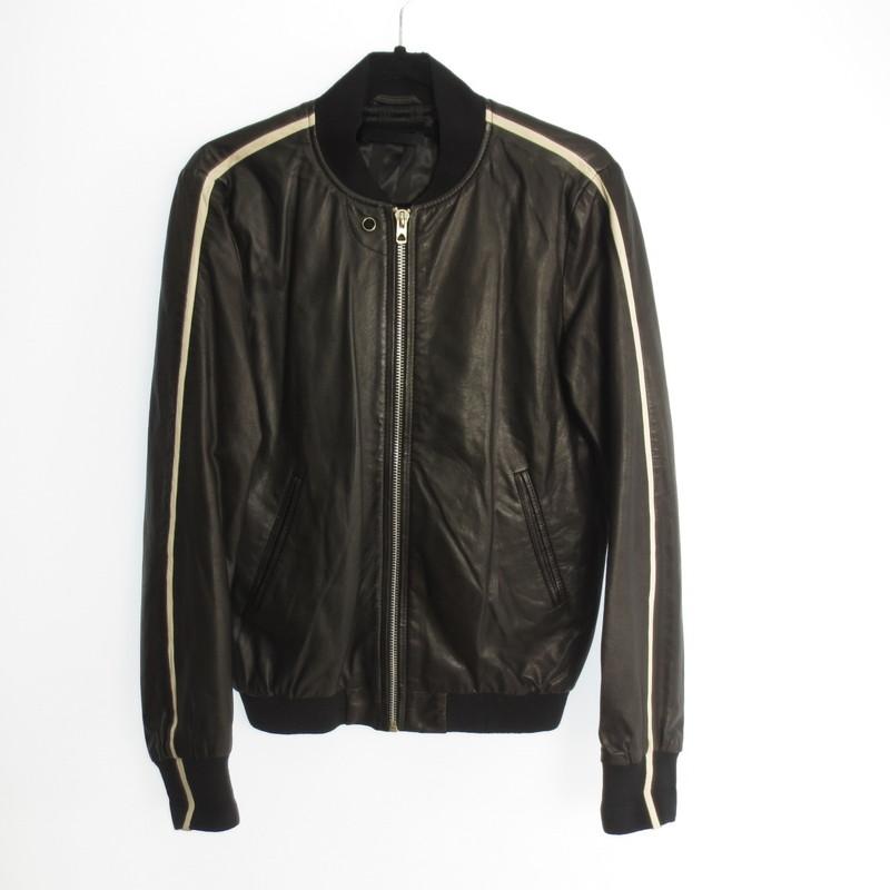 【中古】DIESEL BLACK GOLD ディーゼル ブラックゴールド ラムレザーシングルライダースジャケット  サイズ:44 カラー:ブラック / インポート【f094】