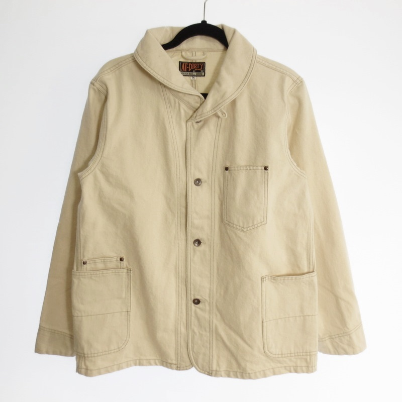 【中古】AT DIRTY アットダーティー Workers Jacket デニムカバーオール 2019AW サイズ:M カラー:アイボリー【f096】