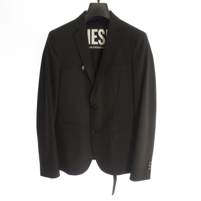 【中古】DIESEL ディーゼル J-HOOKジャケット 2Bジャケット 2019AW サイズ:46 カラー:ブラック / インポート【f094】