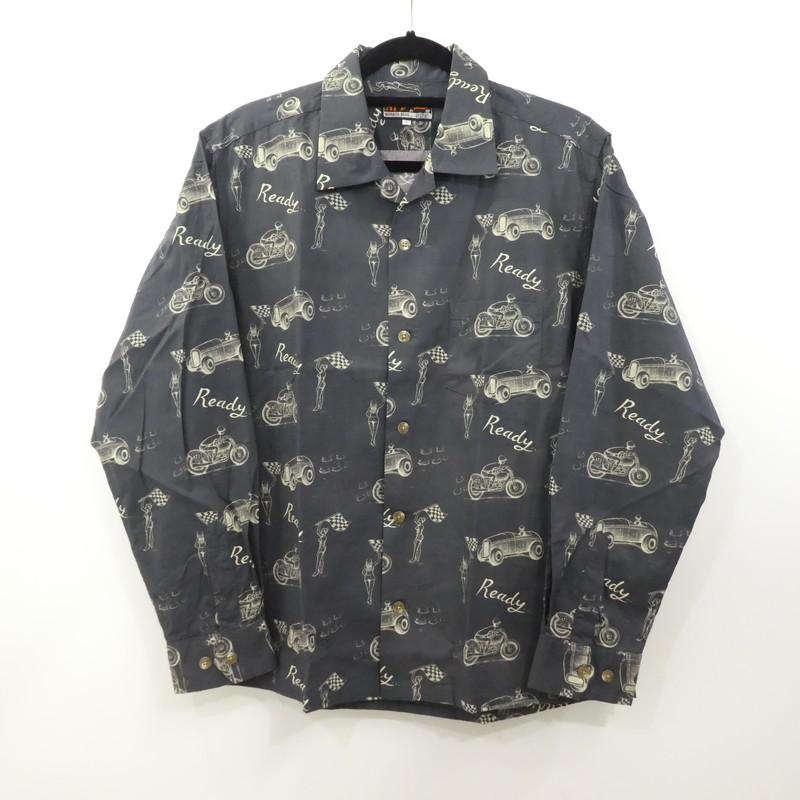 【中古】AT DIRTY |アットダーティー READY L/S SHIRT L/Sオープンカラーシャツ 2020SS サイズ:L 【f104】