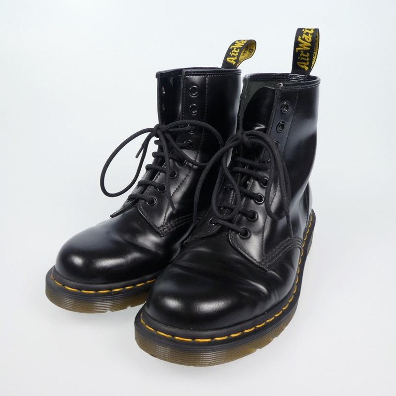 【中古】Dr.Martens|ドクターマーチン 8ホール ブーツ  ブラック サイズ:UK8(27cm)【f127】