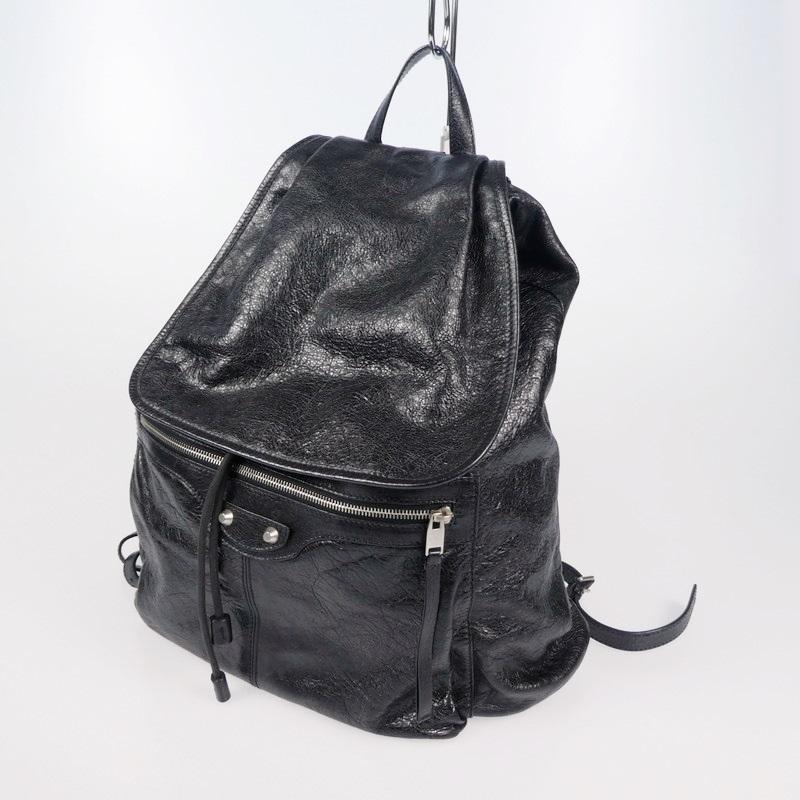 中古 BALENCIAGA バレンシアガ ファクトリーアウトレット Classic Traveller Leather リュック 新作入荷!! 2019SS 340139 ブラック バックパック f122
