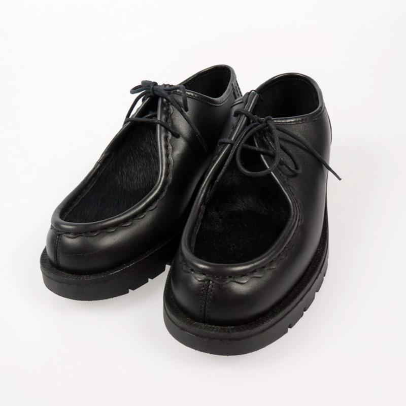 【中古】KLEMAN クレマン チロリアンシューズ  ブラック サイズ:24【f128】