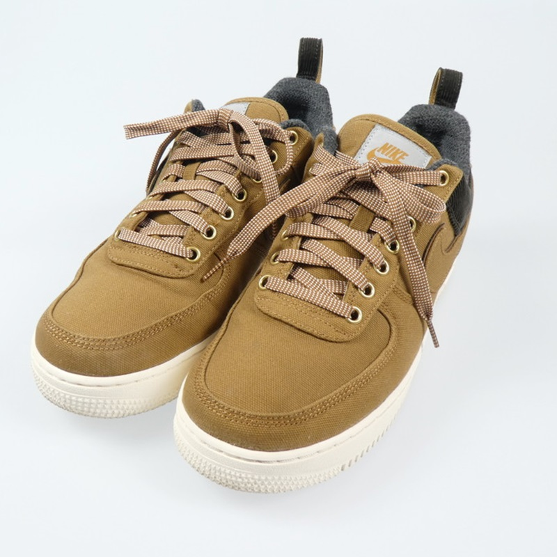 【中古】NIKE|ナイキ ×Carhartt AIR FORCE1 07 PRM WIP AV4113-200 スニーカー 2018AW サイズ:27.5【f126】