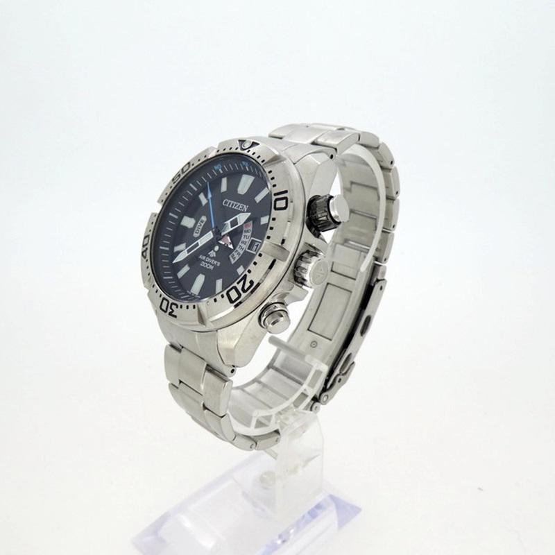 202103pd 超安い 最安値挑戦 中古 CITIZEN シチズン PROMASTER 腕時計 PMD56-3081 f131 電波ソーラー