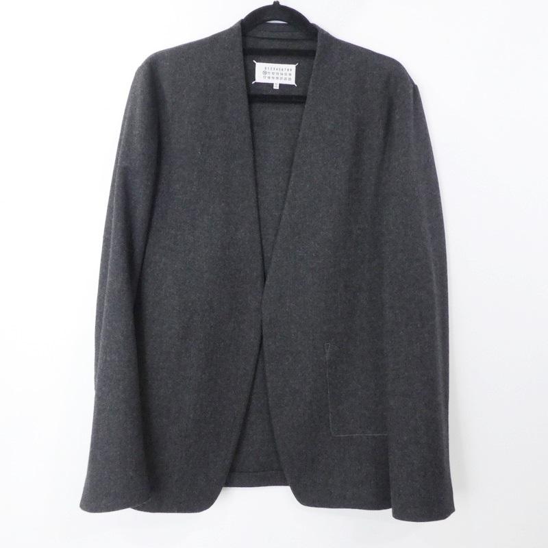 最安値 Maison Margiela メゾン・マルジェラ LAMBSWOOL CLOTH JACKET ウールカラーレスジャケット S50BN0392 国内正規品 2019AW サイズ:48【f108】, 都農町 c110e043