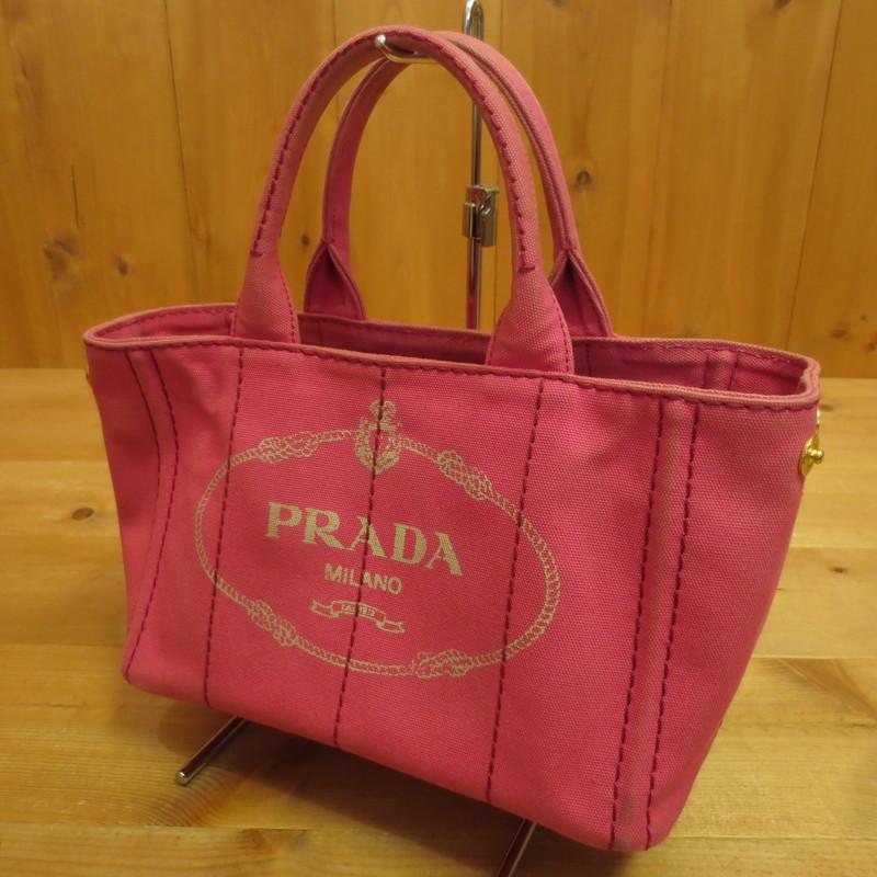 【中古】PRADA プラダ トートバッグ サイズ:- カラー:ピンク【f122】