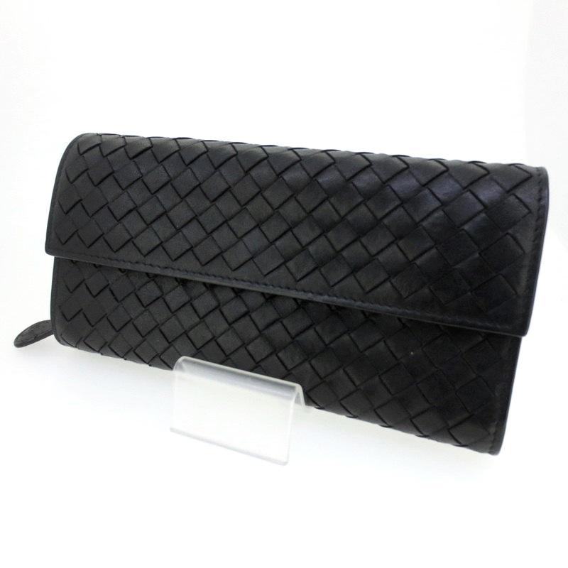 【中古】BOTTEGA VENETA ボッテガヴェネタ 長財布 ウォレット サイズ:- カラー:ブラック【f125】