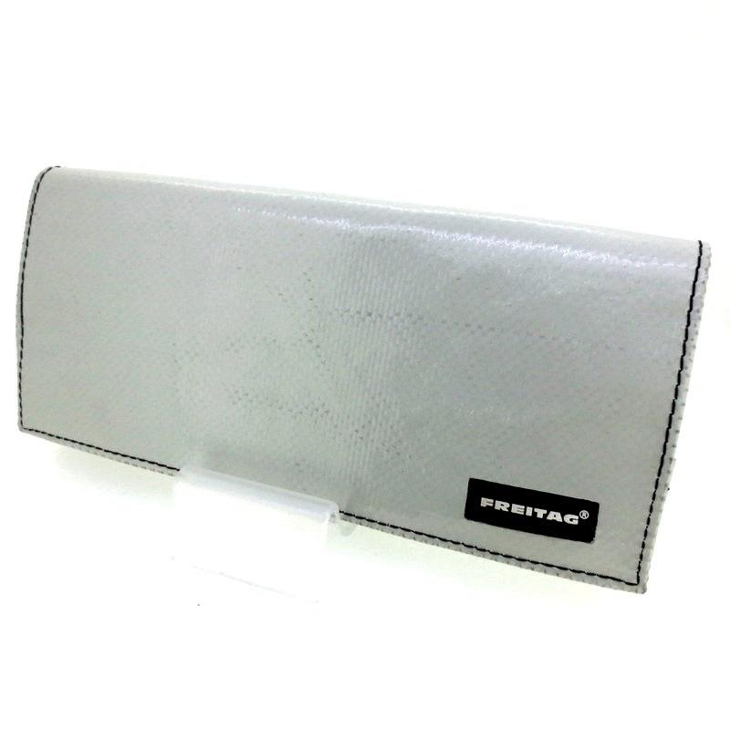 【中古】FREITAG フライターグ CAROLINE キャロライン 長財布 ウォレット サイズ:- カラー:グレー系【f124】