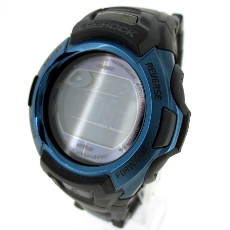 【中古】CASIO G-SHOCK カシオ ジーショック 腕時計 リストウォッチ サイズ:- カラー:ブラック×ブルー【f131】
