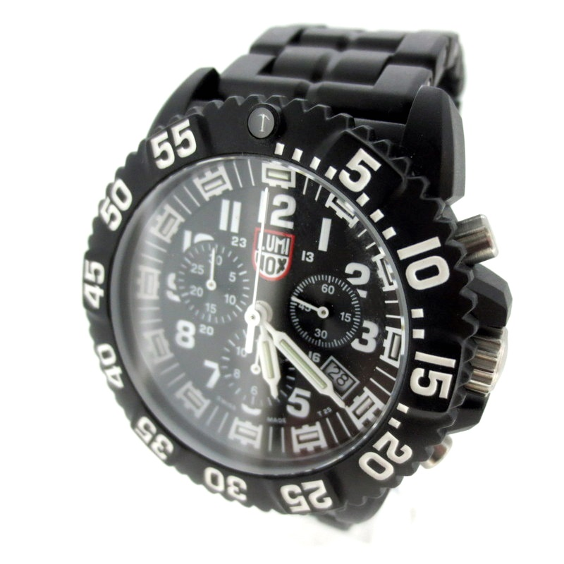 【中古】LUMINOX ルミノックス NAVY SEAL COLORMARK CHRONO 3080 腕時計 リストウォッチ サイズ:- カラー:ブラック【f131】