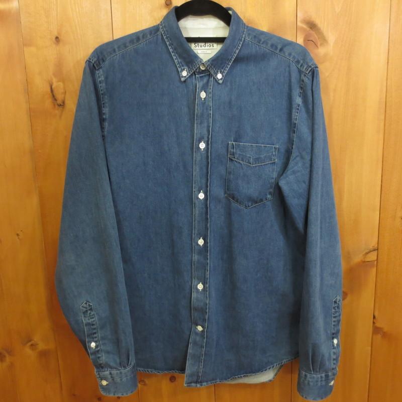 【中古】ACNE STUDIOS/アクネストゥディオズ 長袖 シャツ サイズ:48 カラー:ブルー系 / インポート【f108】