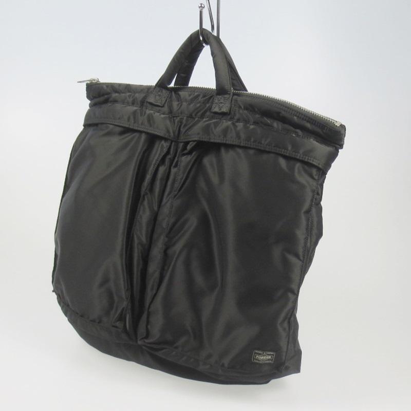 【中古】PORTER ポーター TANKER ヘルメットバッグ カラー:ブラック【f121】