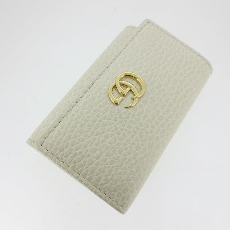 【中古】GUCCI グッチ 6連キーケース プチマーモント 456118 サイズ: カラー:オフホワイト系【f125】